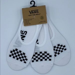 VANS Low Cut Socks Black & White 3 Pack